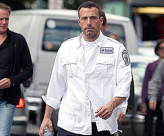 Slide Photo of Ben Affleck Filming The Town in Boston 2009-09-26 10:00:00