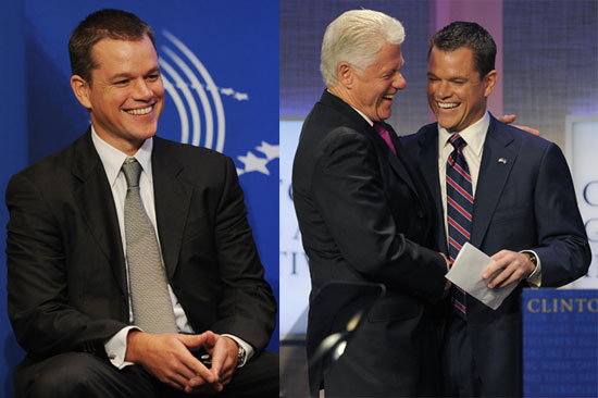 Photos of Matt Damon, Alicia Keys, Bill Clinton, And Barack Obama at The Clinton Global Initiative in NYC 2009-09-22 16:37:10
