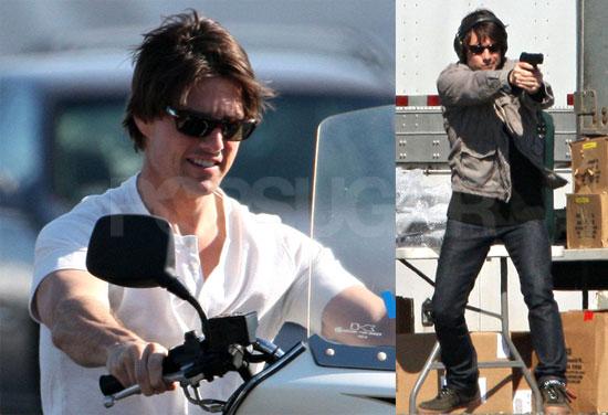 Photos of Tom Cruise Filming Wichita; Katie Holmes and Suri Cruise Walking in Boston