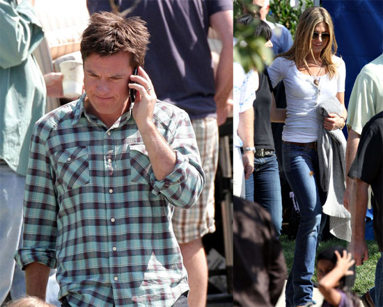 Photos of Jennifer Aniston, Jason Bateman Filming The Baster in LA