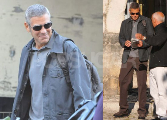 Photos of George Clooney On Set in Italy