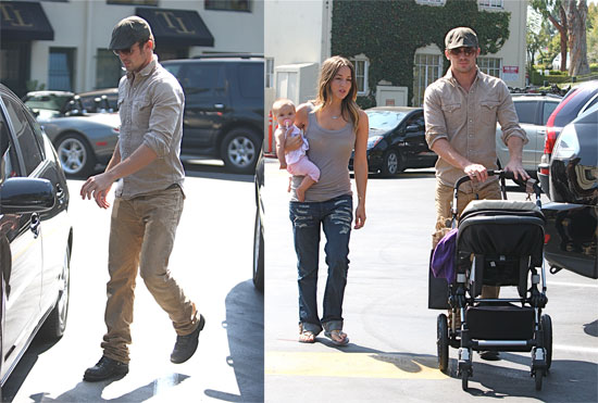 Photos of Cam Gigandet With His Baby in LA