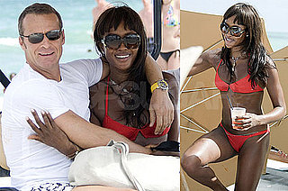 Photos of Naomi Campbell in a Bikini and Vladislav Doronin on the Beach in Miami