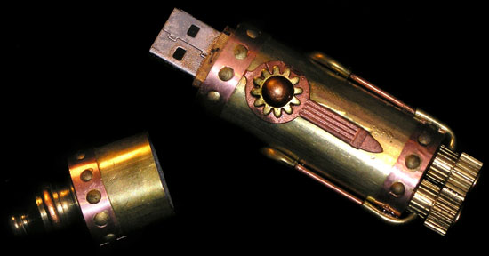 Steampunk 4GB USB Flash Drive Costs $3,000 on Etsy