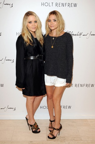 Ashley and Mary-Kate Olsen Stop by Holt Renfrew in Toronto to Support Elizabeth and James