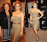 Kate Hudson Attends Fashion's Night Out in Strapless Plaid Michael Kors Dress