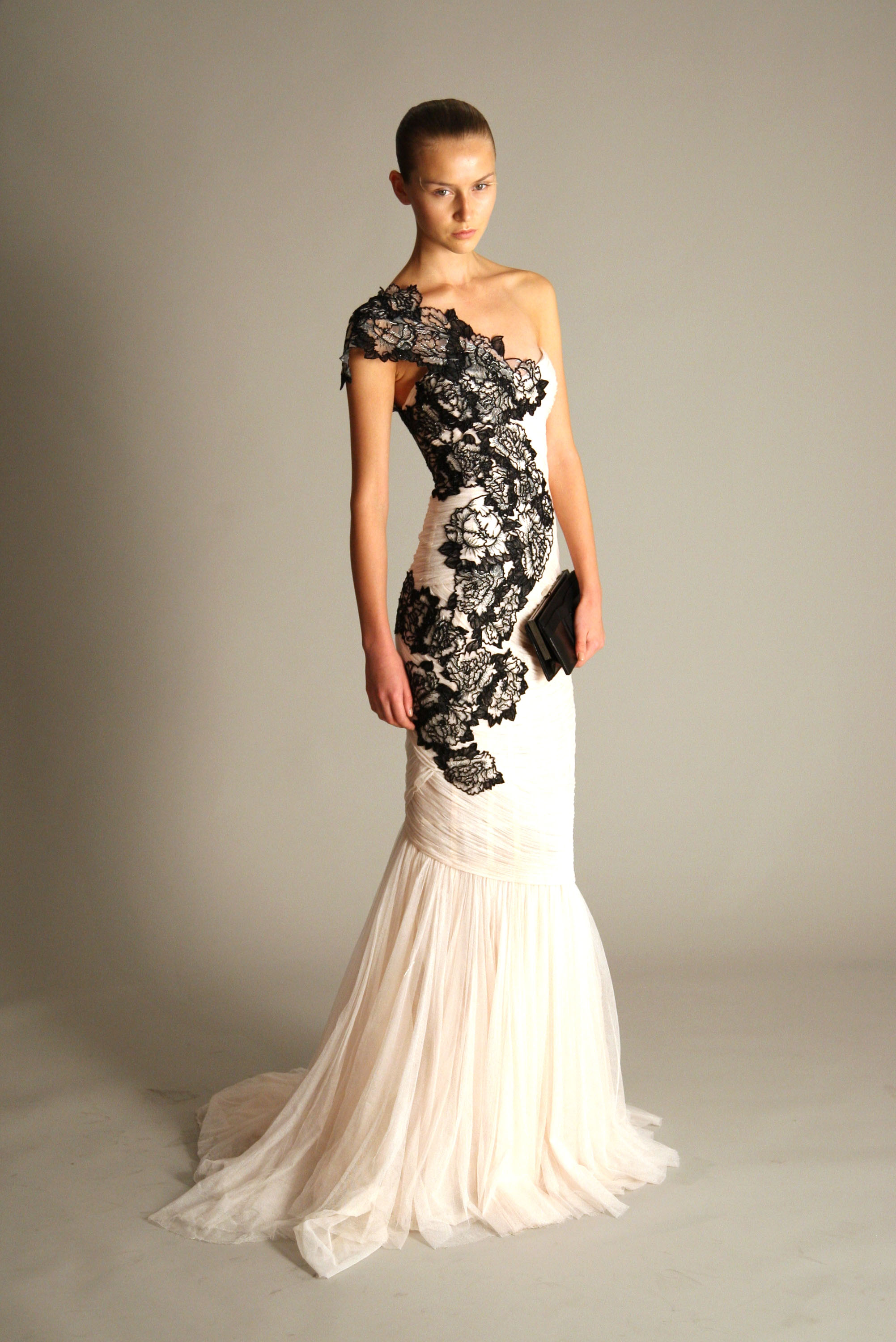 Photos from marchesa 39 s spring 2010 collection popsugar for Black and white dresses for wedding