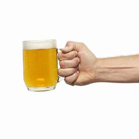 Parents Encouraging Alcohol Swigging Tot