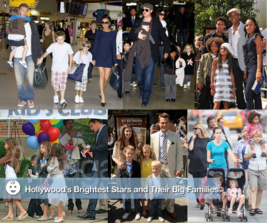Large Hollywood Families