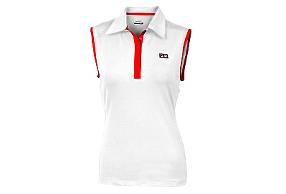 Heritage Sleeveless Polo, White, $52