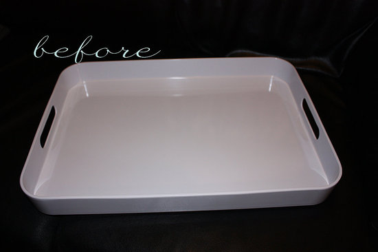 Before and After: KateDavis's Faux Bois Tray Makeover