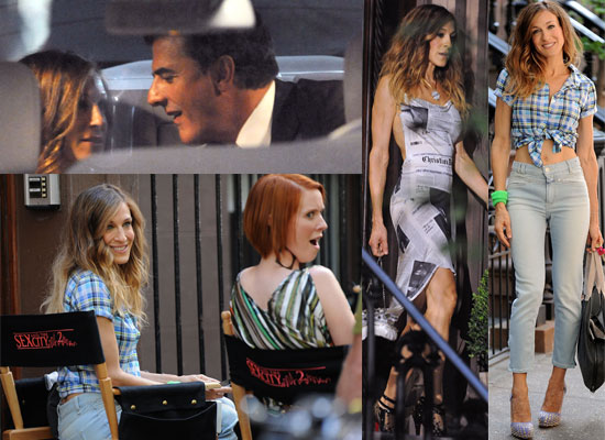 New Photos Of Sarah Jessica Parker, Cynthia Nixon and Chris Noth Filming Sex and the City 2 In New York