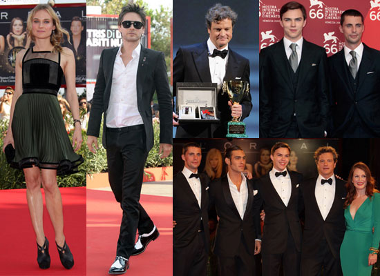 Photos of Nicholas Hoult, Colin Firth, Matthew Goode, Julianne Moore, Diane Kruger, Jared Leto at Venice Film Festival 2009