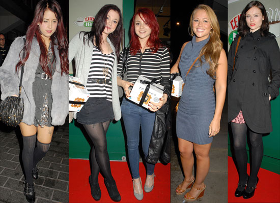 Photos Of Skins Stars Megan and Kathryn Prescott, Peaches Geldof, Kimberley Walsh At Central Perk Opening In London