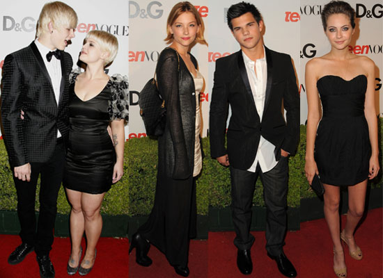 Photos Of Teen Vogue Celebs Including Kelly Osbourne, Taylor Lautner and Willa Holland at Young Hollywood Party