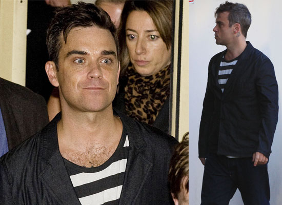 Gallery of Pictures of Robbie Williams Outside The X Factor Studios Following his Live Performance of Bodies