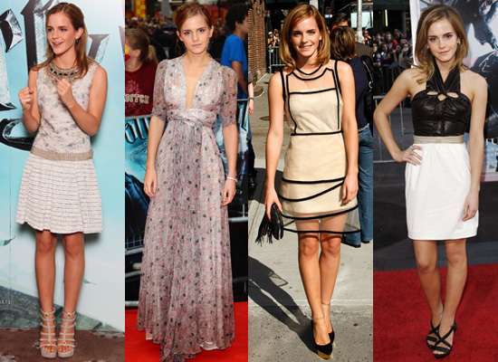 Red Carpet Photos of Emma Watson Promoting Harry Potter