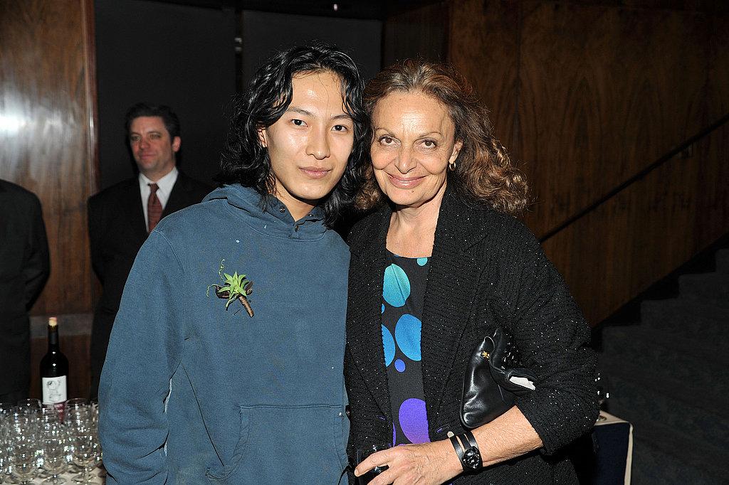 Alexander Wang with Diane Von Furstenberg