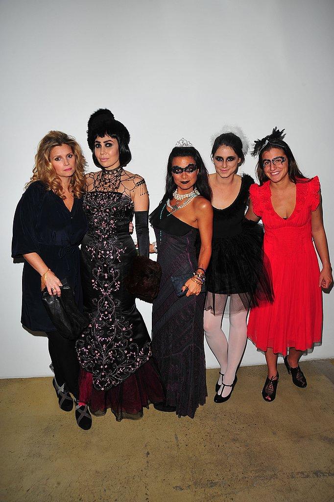 Fabiola Beracasa with Interview's Susan Kilkenny, Renata Merriam, Marie LaFrance, and Julia Nasser
