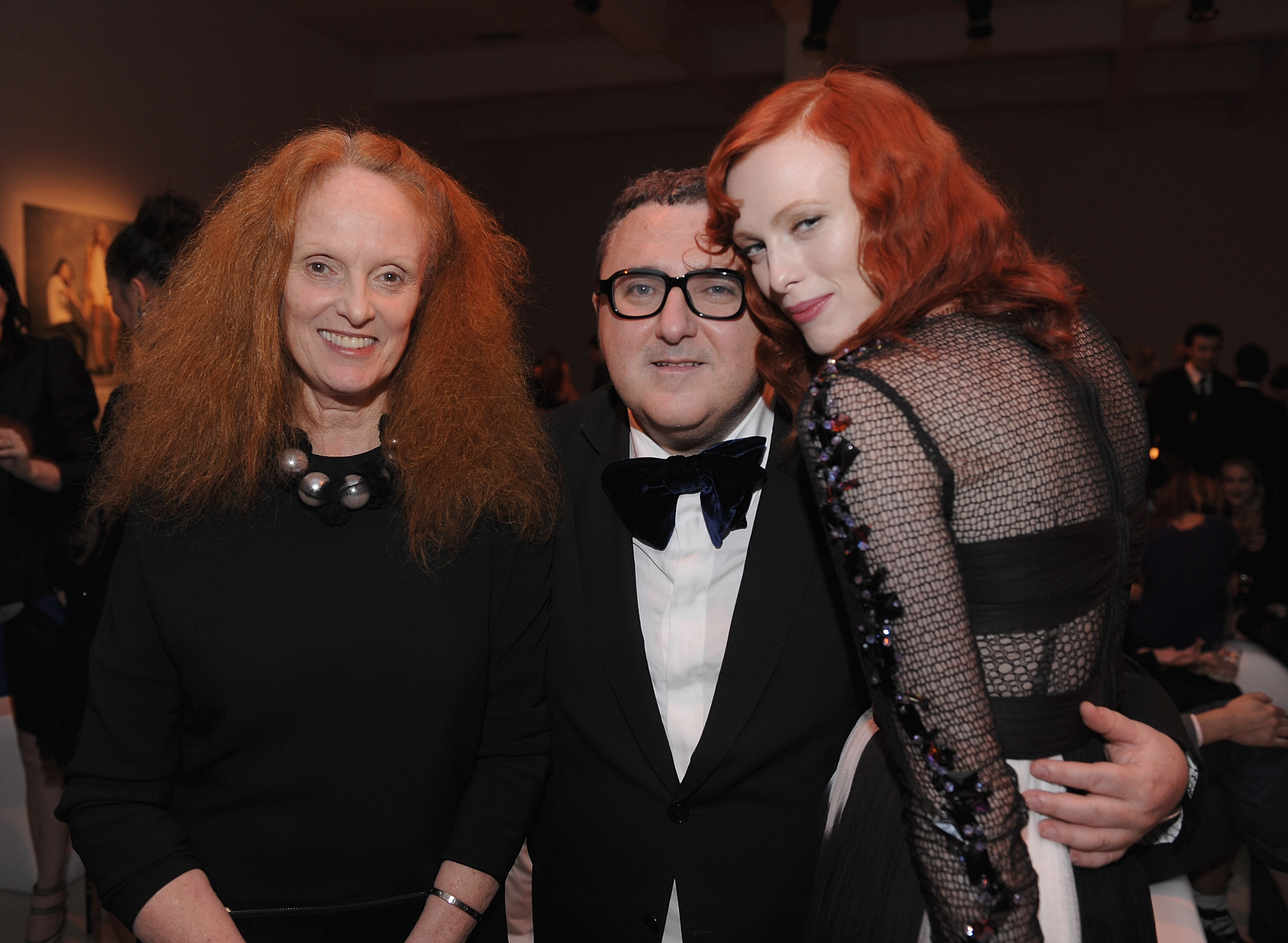 Grace Coddington, Alber Elbaz, Karen Elson