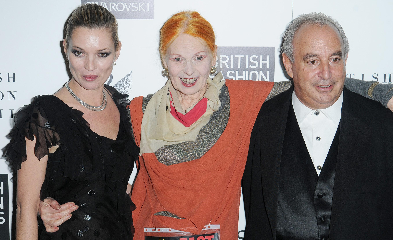 Kate Moss, Vivienne Westwood, Sir Philip Green