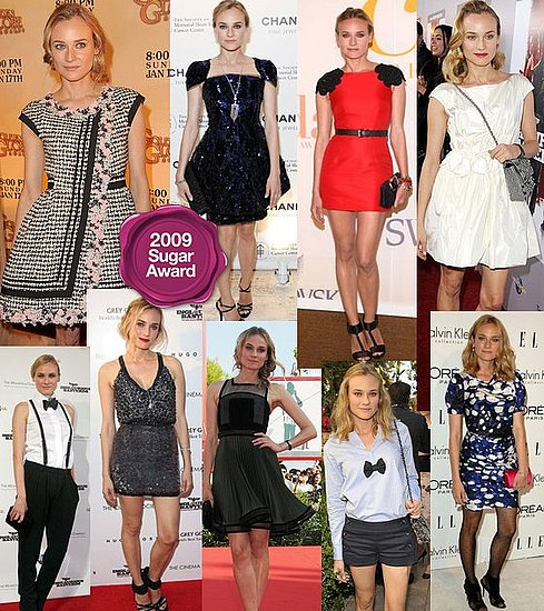 Diane Kruger, Best Red Carpet Looks of 2009 - 2009 Sugar Awards