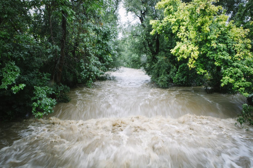 Boulder Creek overflowed after six to 10 inches of rain fell in just 12 to 18 hours.