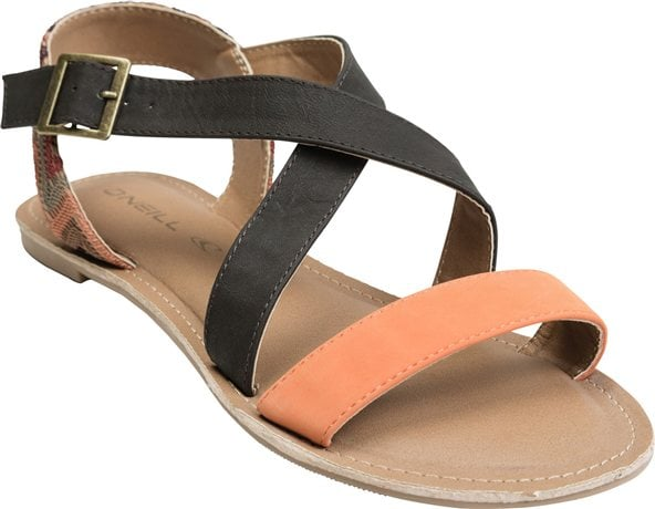 A printed strap at the heel livens up this O'Neill pair ($36).