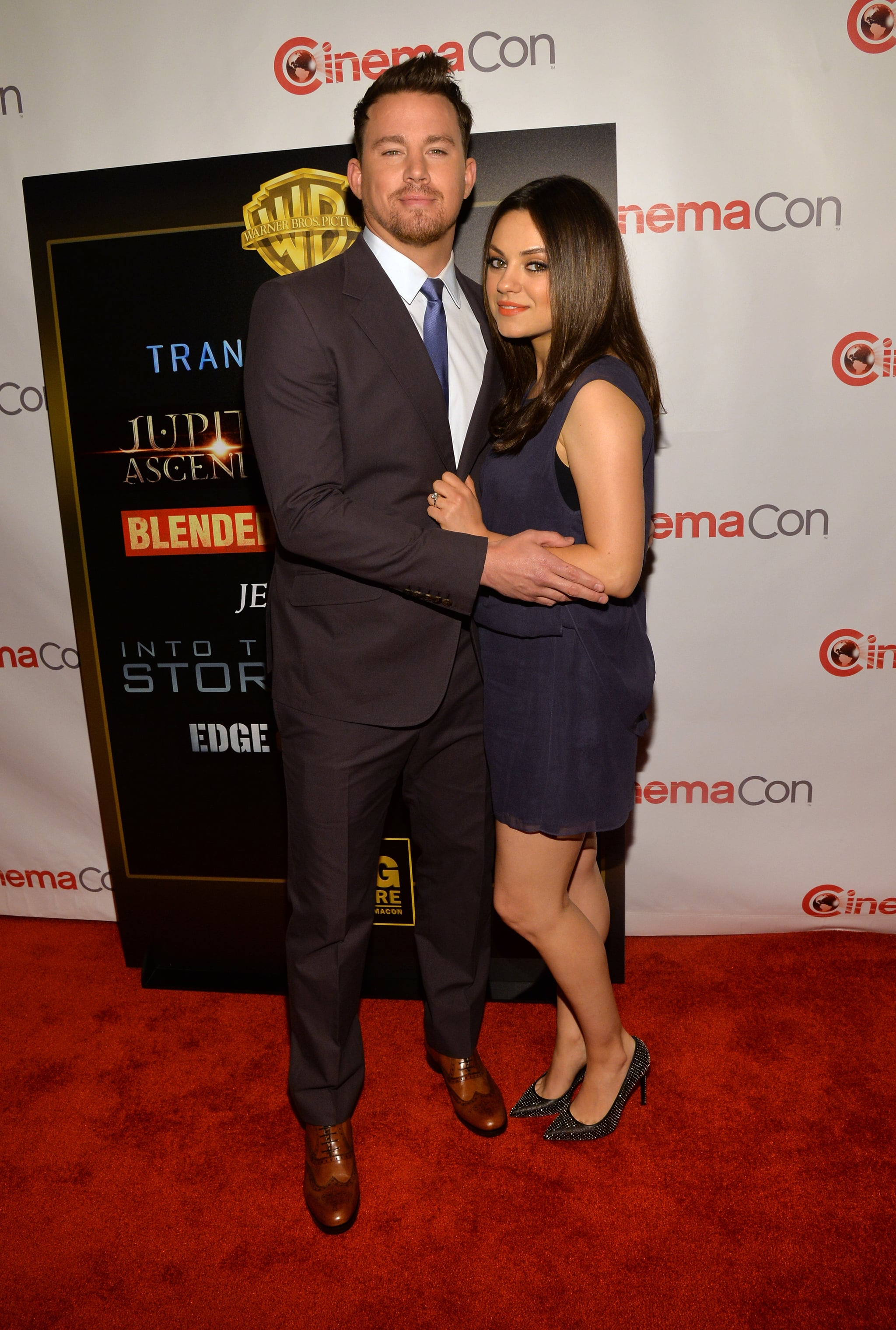 Mila Kunis Takes Her Bump and Bling to CinemaCon