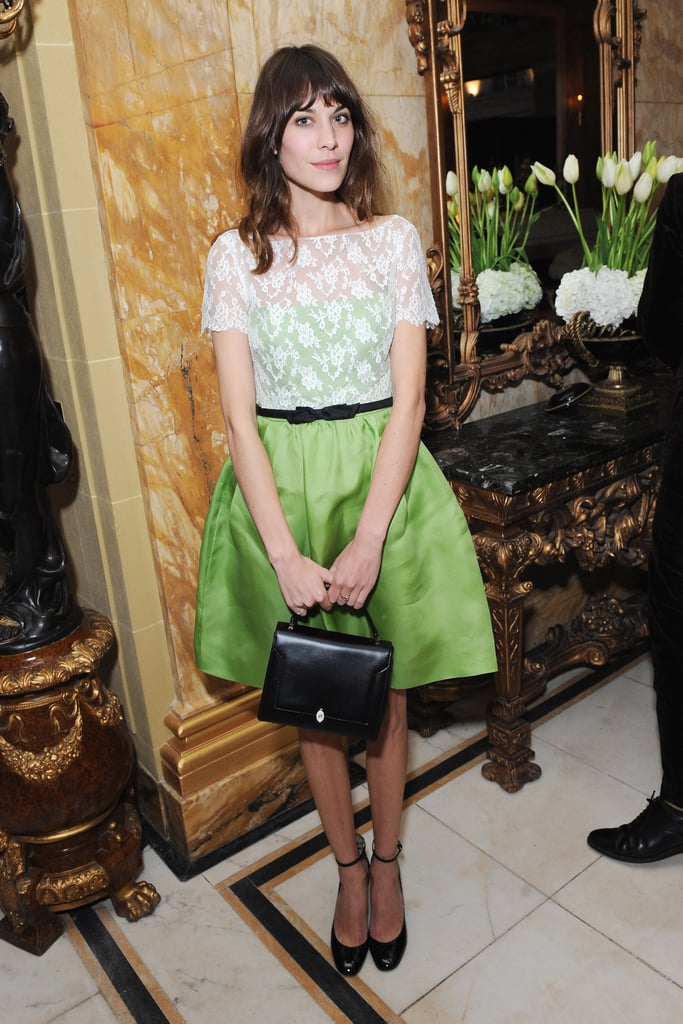 Alexa Chung posed for photos in London.