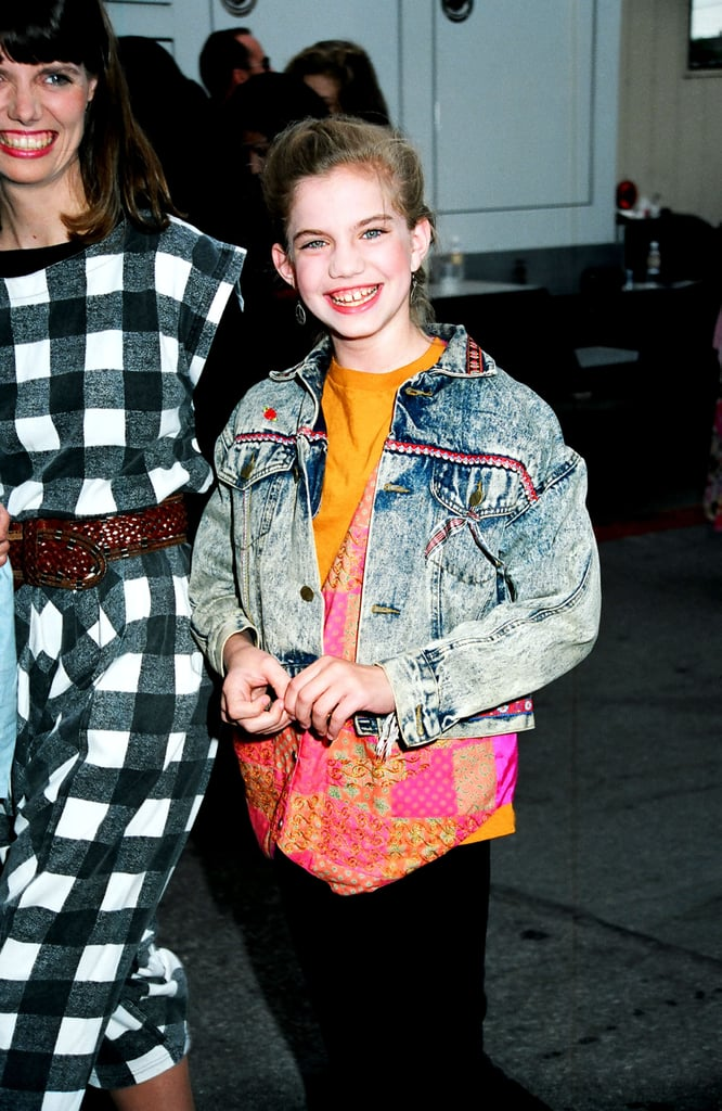 Anna Chlumsky rocked a denim jacket.