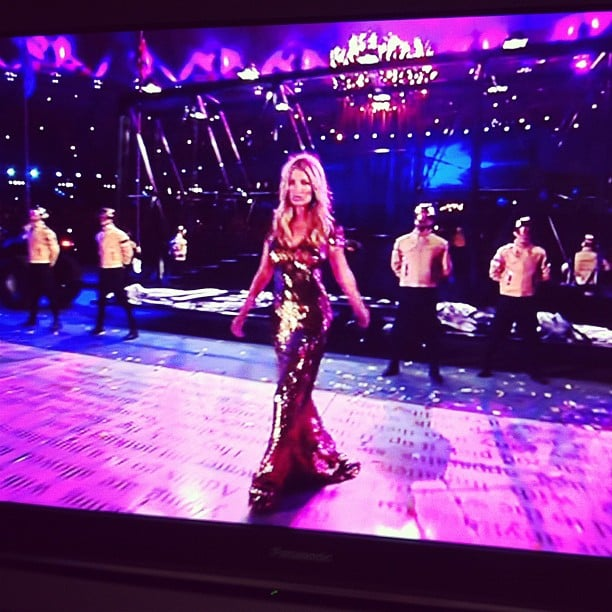 Oh hello there, Kate Moss at the London Olympics closing ceremony. She hit our TV screens, we squealed. True story.