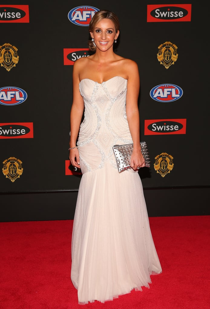 Kathryn Cotsopoulos the partner of Joel Selwood of the Cats.