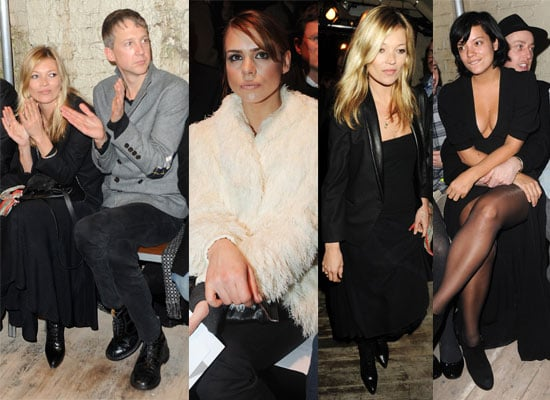 Photos of Kate Moss, Jefferson Hack, Lily Allen, Zak Starkey and James Brown at the Final Day of London Fashion Week 2010
