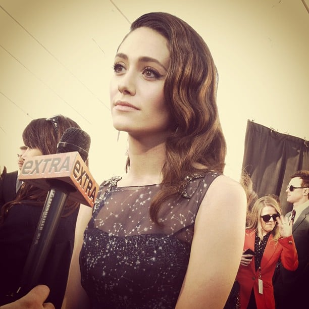 Emmy Rossum was looking picture perfect on the red carpet. Source: Instagram user marcmalkin