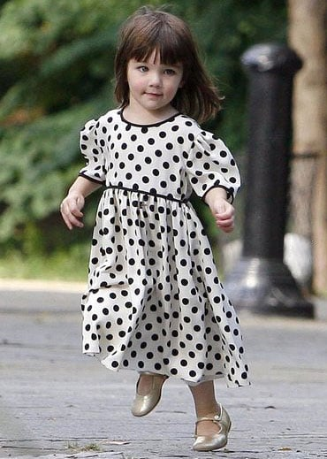 Suri Cruise's Gold Shoes
