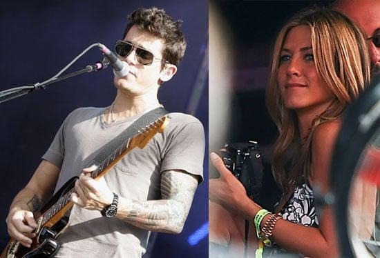 Photos of Jennifer Aniston and John Mayer in London