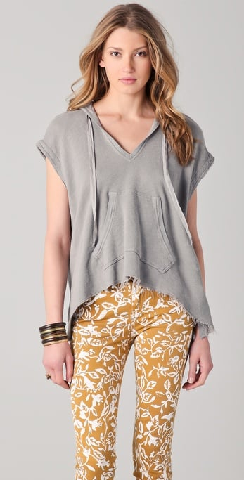 We love the slouchy sweatshirt feel of this piece.  Wilt Hooded Pullover ($146)