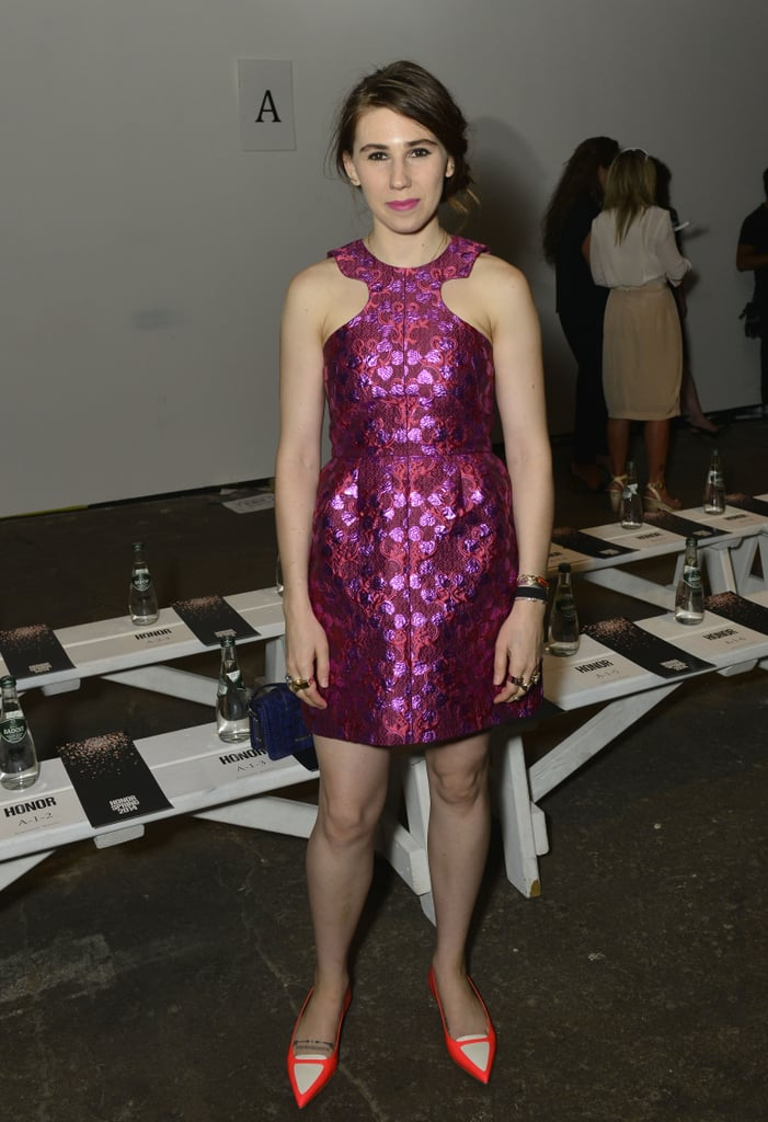 Zosia Mamet wore a pink dress at the Honor show on Thursday.