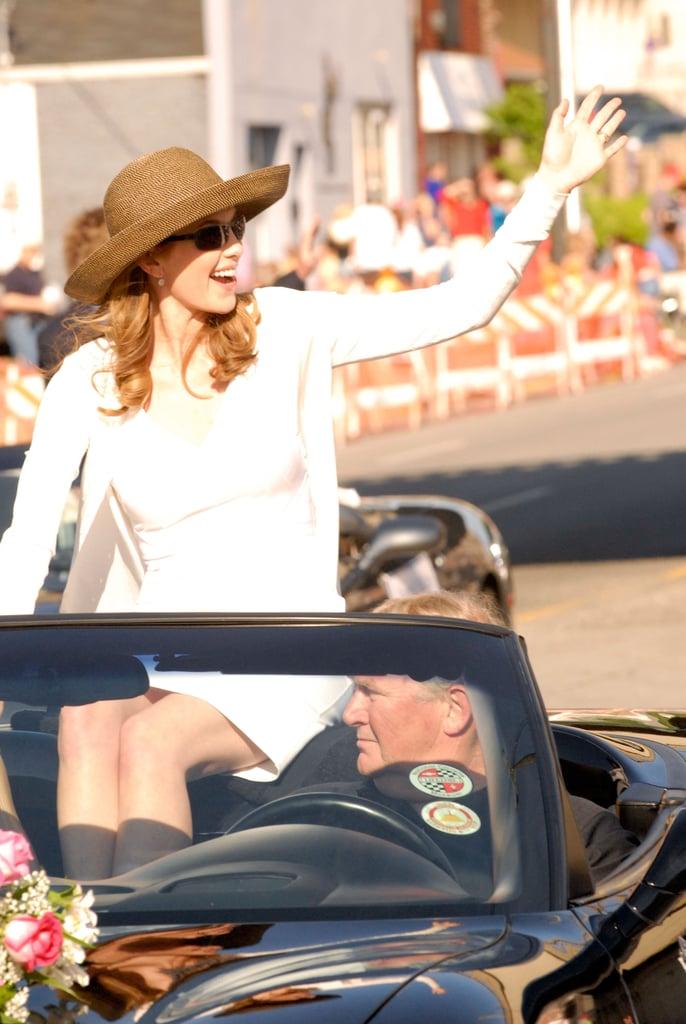 Diane Lane led the Kentucky Derby Pegasus Parade in 2010 to promote Secretariat.