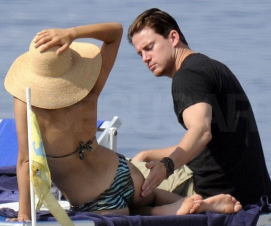 Slide Picture of Channing Tatum and Jenna Dewan on Beach in Italy