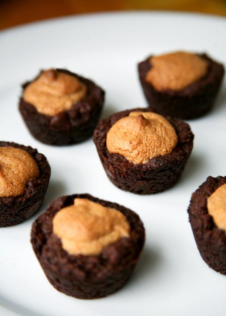 Vegan Peanut Butter Brownie Bites