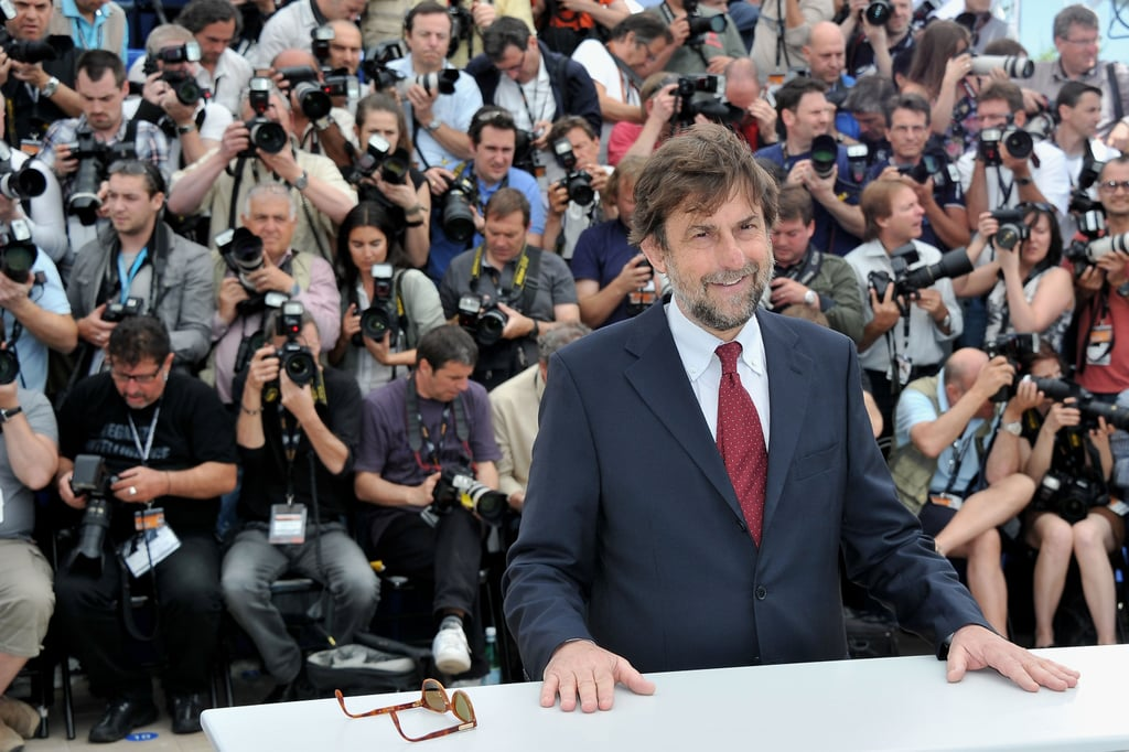President of the jury, director Nanni Moretti posed at the jury photocall at the Cannes Film Festival.