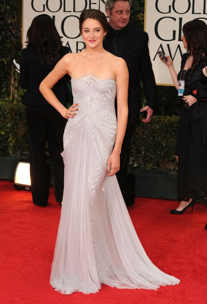 Shailene Woodley in Marchesa at the 2012 Golden Globes