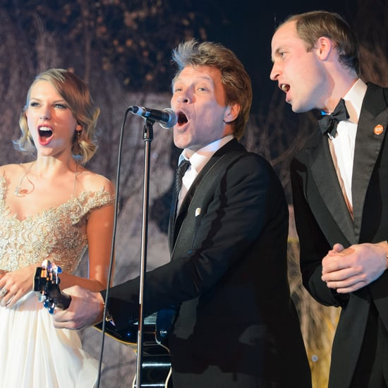 Taylor Swift, Prince William, and Bon Jovi Sing Livin' on a Prayer — See Video and GIFs!