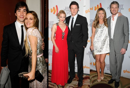 Pictures of Drew Barrymore, Adam Lambert and the Cast of Glee at the 2010 GLAAD Media Awards