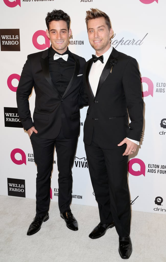 Lance Bass and Michael Turchin stepped out for Elton John's viewing party.