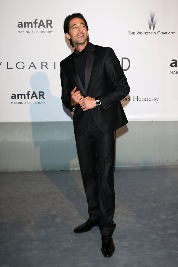 Adrien Brody walked the carpet.
