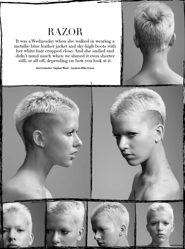 In the August Issue of Russh, They Shaved a Model's Head