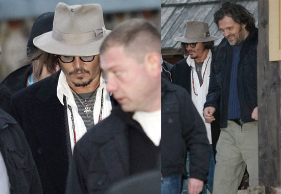 Photos of Johnny Depp Attending the Music and Film Festival in Serbia